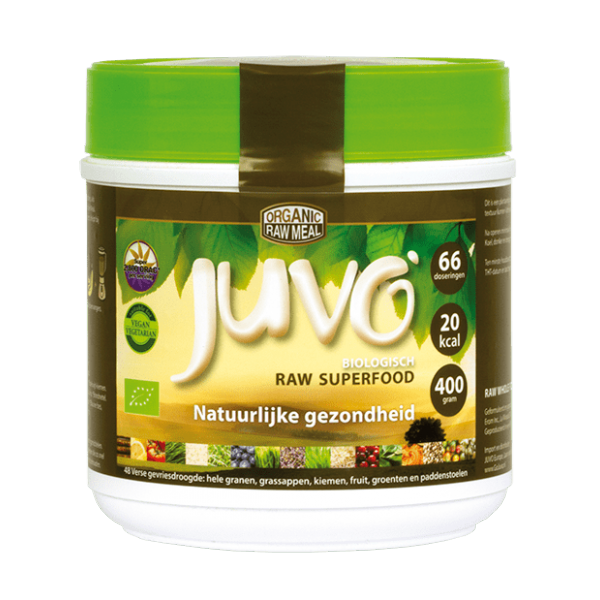 Juvo raw biologisch superfood voedingssupplement.