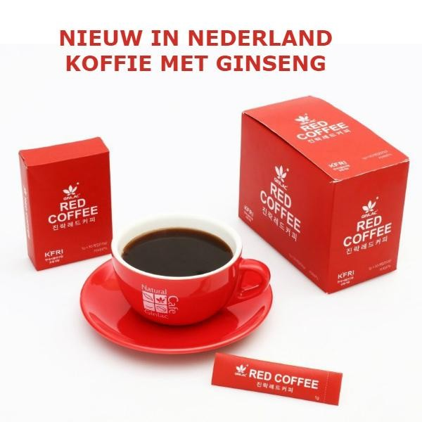Red ginseng koffie