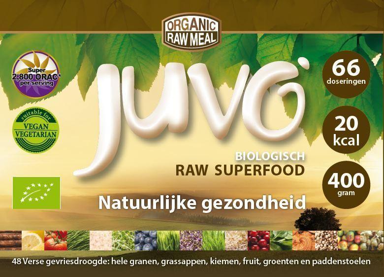 Label Juvo raw green superfood