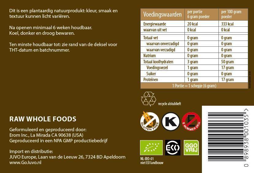 voedingswaarden Juvo superfood
