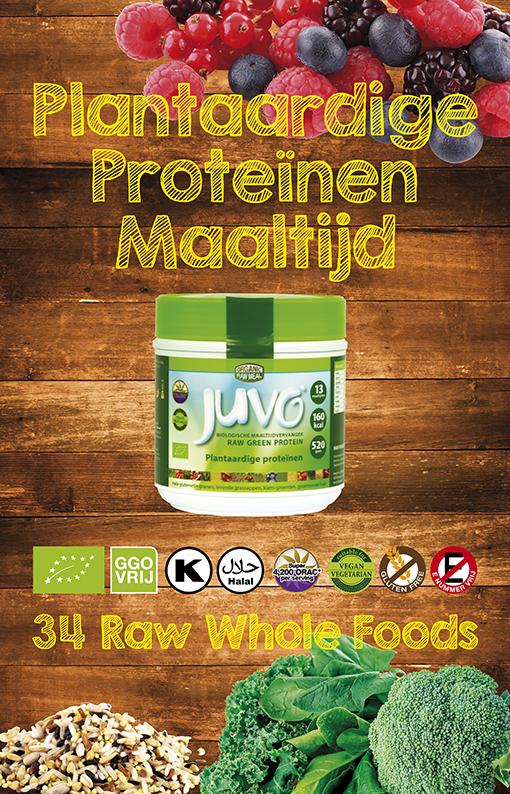 afbeelding Juvo raw green protein plantaardige proteinen maaltijdvervanger