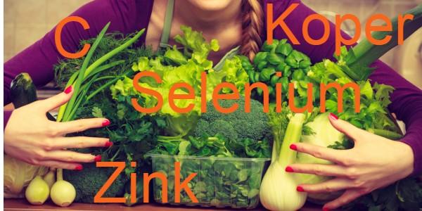 antioxidanten selenium koper zink vitamine c