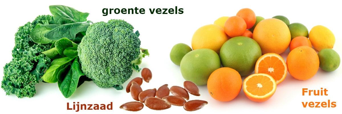 voedingsvezels groentevezels fruitvezels lijnzaad