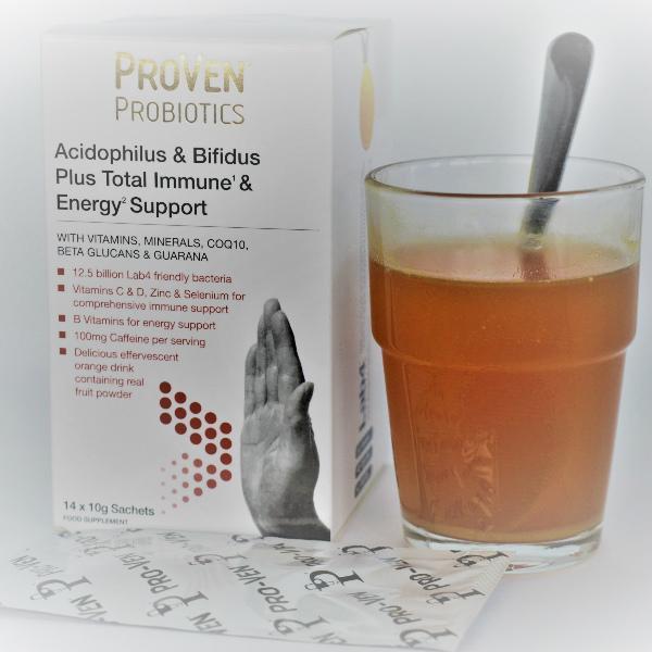 probiotica energie en weerstand met vitaminen en caffeïne
