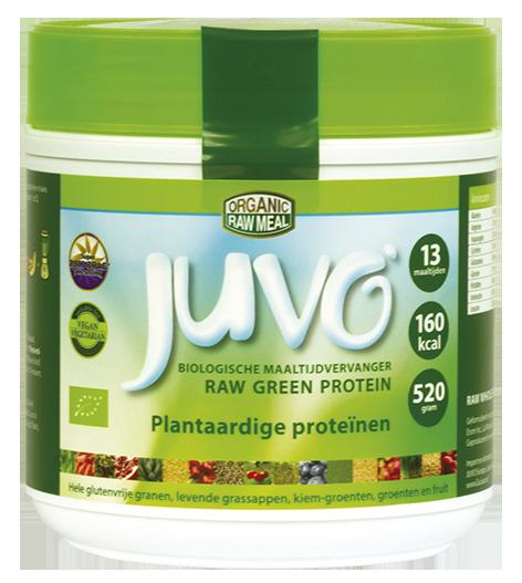Juvo raw green protein juvo proteinenen maaltijdvervanger afbeelding